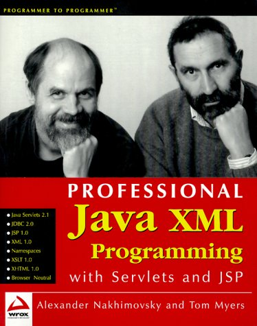 9781861002853: Professional Java XML Programming with servlets and JSP