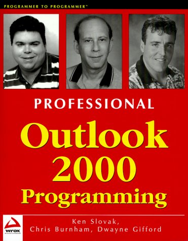 9781861003317: Professional Outlook 2000 Programming : With VBA, Office and CDO