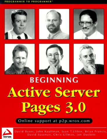 9781861003386: Beginning Active Server Pages 3.0