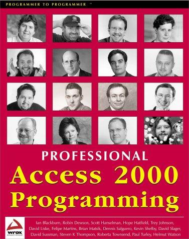Professional Access 2000 Programming: Robin Dewson, Scott