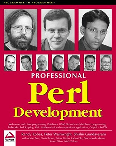 9781861004383: Professional Perl Development
