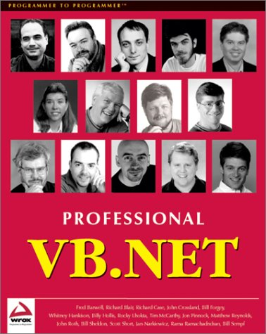 Professional VB.NET: Rocky Lhotka, Richard