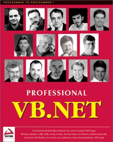 9781861004970: Professional VB.NET