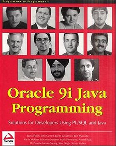 9781861006028: Oracle 9i Java Programming: Solutions for Developers Using PL/SQL and Java