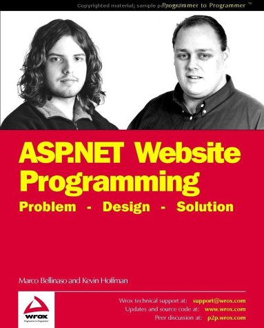 9781861006936: Asp.Net Website Programming: Problem - Design - Solution - Written and Tested for Final Release of .NET V.1.0 (Programmer to programmer)