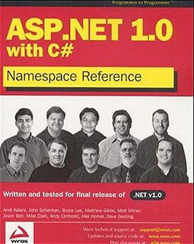 ASP.NET 1.0 Namespace Reference with C#: Dave Gerding, Matt