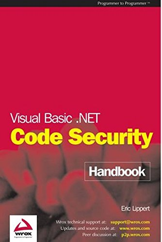 VISUAL BASIC .NET CODE SECURITY HANDBOOK
