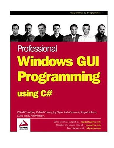 9781861007667: Professional Windows GUI Programming Using C#
