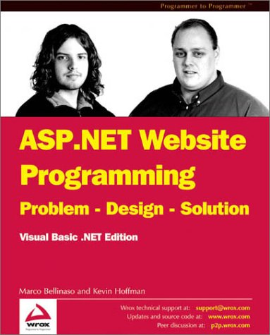 9781861008169: ASP.NET WEB SITE PROG. VB.NET: Problem - Design - Solution - Visual Basic .NET Edition (Wrox Us)