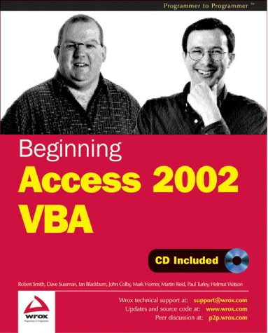 9781861008213: Beginning Access 2002 Vba