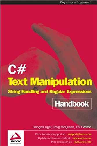 9781861008237: C# Text Manipulation Handbook