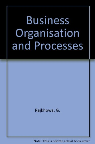 9781861241221: Business Organisation and Processes