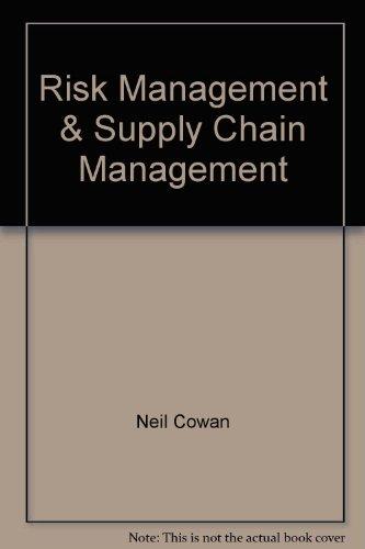 9781861241597: Risk Management & Supply Chain Management
