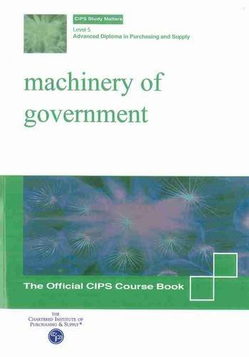 9781861241658: Machinery of Government