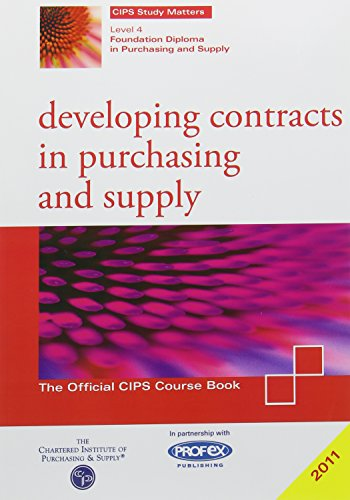 9781861241955: CIPS Profex Study Pack Level 4 Developing Contracts