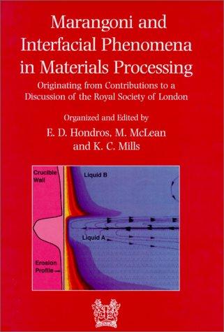 B0692 Marangoni and interfacial phenomena in materials