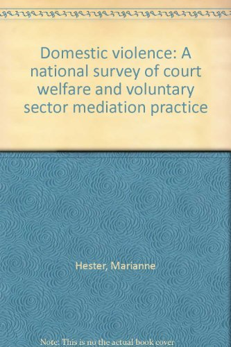9781861340610: Domestic violence: A national survey of court welfare and voluntary sector mediation practice