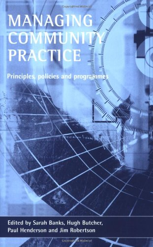 9781861343567: Managing Community Practice: Principles, Policies and Programmes