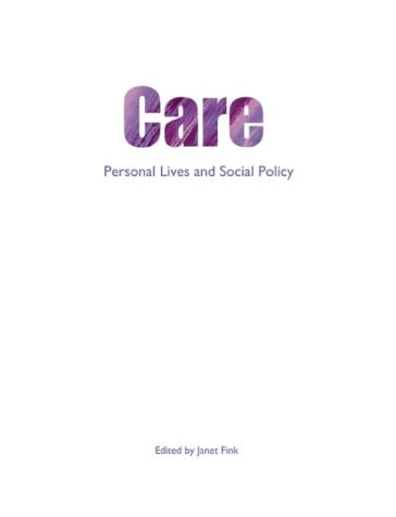 9781861345196: Care: Personal lives and social policy (Personal Lives and Social Policy Series)