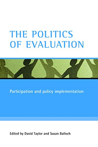 9781861346063: The Politics of Evaluation: Participation and Policy Implementation