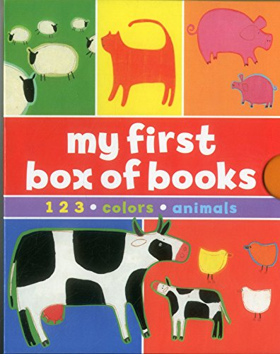 9781861474162: My First Box of Books: 1-2-3 * Colours * Animals