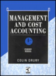 Management and Cost Accounting: Student's Manual (9781861520029) by Drury, Colin