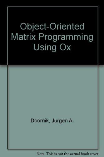 9781861520562: Object-Oriented Matrix Programming Using Ox