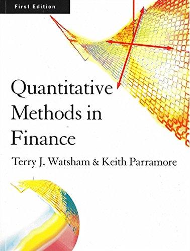 Quantitative Methods for Finance: Watsham, Terry; Parramore, Keith
