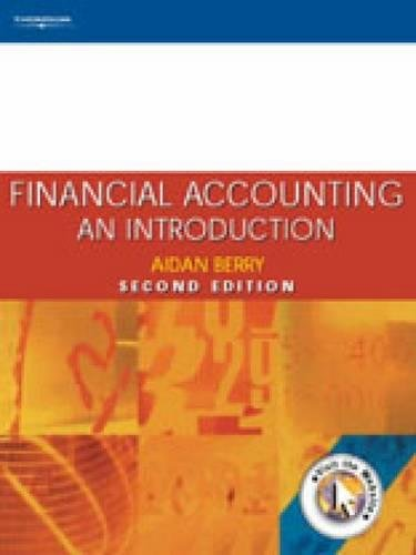 9781861524799: Financial Accounting: An Introduction