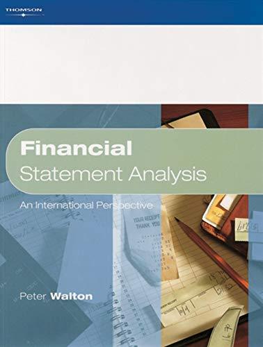 9781861524874: Financial Statement Analysis: An International Perspective