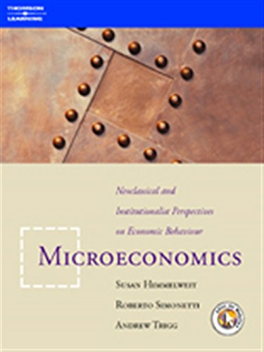 9781861525390: Microeconomics: Neoclassical and Institutional Perspectives on Economic Behaviour