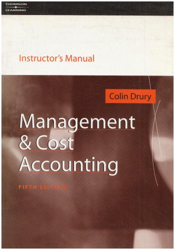 9781861525963: Management and Cost Accounting