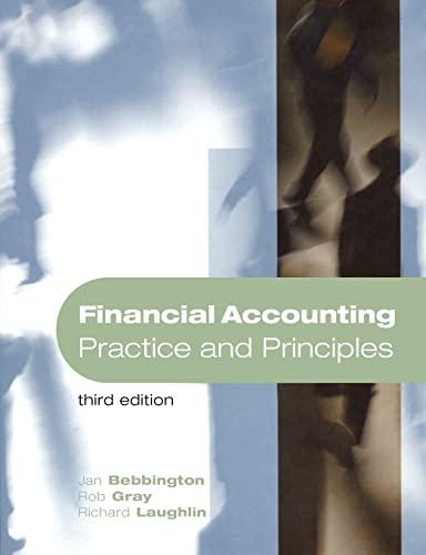 Financial Accounting: Practice and Principles: Rob Gray, Richard