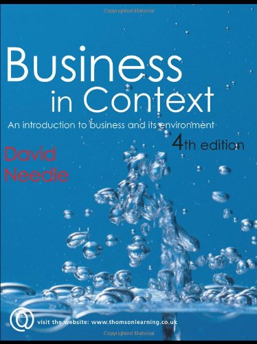 9781861529923: Business in Context: An Introduction to Business and its Environment