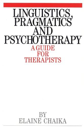 9781861560254: Linguistics, Pragmatics and Psychotherapists