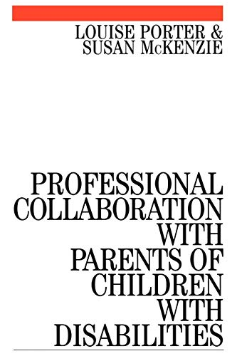 9781861561749: Professional Collaboration with Parents of Children with Disabilities