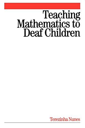 9781861563408: Teaching Mathematics to Deaf Children