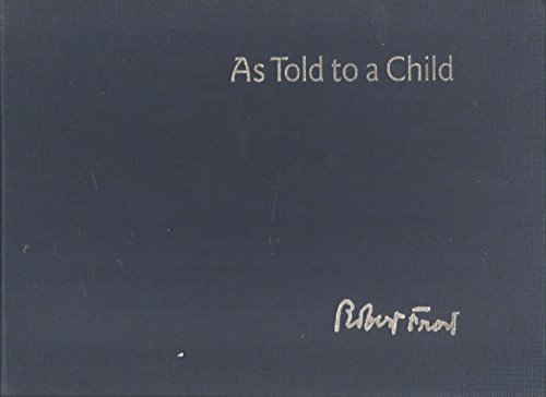 9781861741004: As told to a child: stories from the Derry notebook