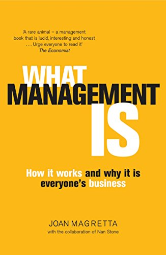 What management is. how it works and why it is everyone's business