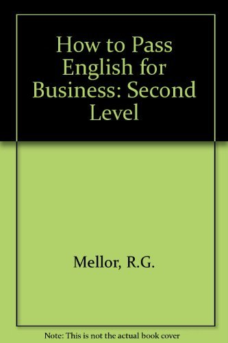 9781862470569: How to Pass English for Business: Second Level