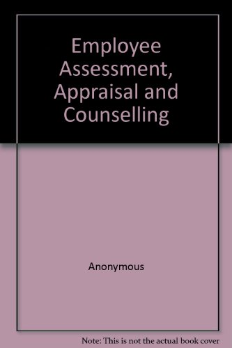 Employee Assessment, Appraisal and Counselling.: CCH AUSTRALIA LTD.