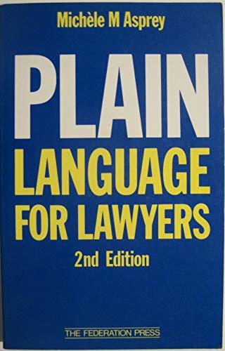 9781862872059: Plain Language for Lawyers