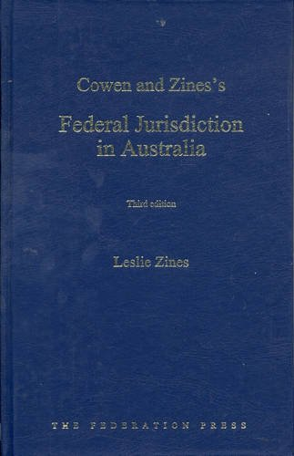 Federal Jurisdiction in Australia (Hardback): Leslie Zines