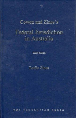 Federal Jurisdiction in Australia (Hardback): Leslie Zines