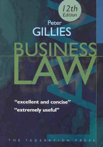 Business Law (Paperback): Peter Gillies