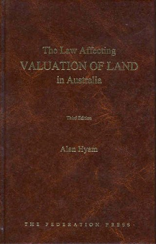 9781862875296: The Law Affecting Valuation of Land in Australia