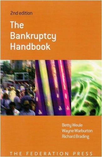 9781862876217: The Bankruptcy Handbook