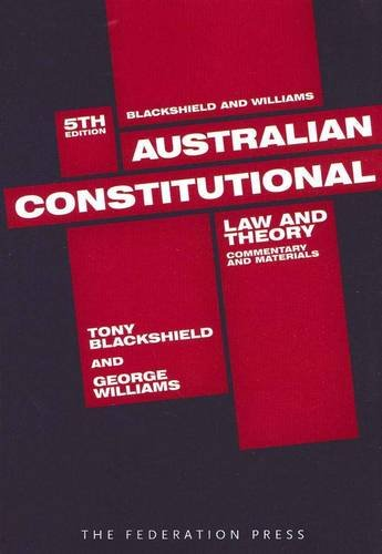 9781862877733: Australian Constitutional Law and Theory