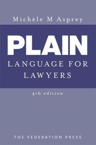 9781862877757: Plain Language for Lawyers