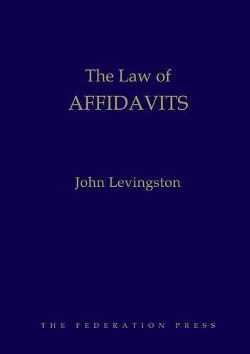 9781862879294: The Law of Affidavits
